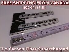 *** FREE SHIPPING ** 2x Audi Carbon Fiber SUPERCHARGED Chrome Badge Decal Emblem