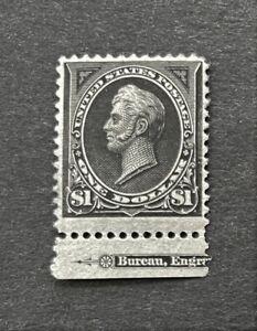 mystamps  US 261, $1 Perry Imprint single, 1894 VF Mint VLH OG, Certified