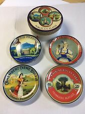 """Boston Warehouse Cheese Course Porcelain Plate Set Of Four 6 1/2"""""""