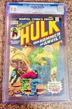 Incredible Hulk 182 CGC Graded 7.0 Mark Jeweler's Marvel Comics 1974