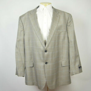 NWT JOS A BANK Signature Silk Wool Houndstooth Plaid Two Button Sport Coat 56R