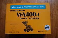 KOMATSU WA400 Wheel Loader Owner Operator Operation Maintenance Manual book 1984