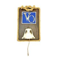 Vintage Seagrams VO Canadian Whisky Nautical Plaque Sign With Rope & Metal Bell
