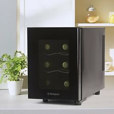 Small 6 Bottle Wine Fridge Mini Thermal Electric Chiller Counter Top Ref Bar New