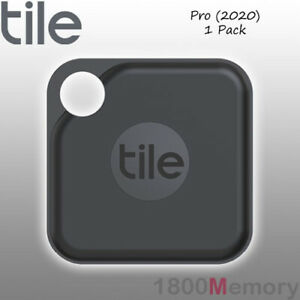 GENUINE Tile Pro 2020 Bluetooth Tracker 1 Pack with Replaceable Battery Black