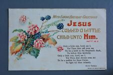 R&L Postcard: Greetings Birthday, Jesus Religious Card Used Vintage