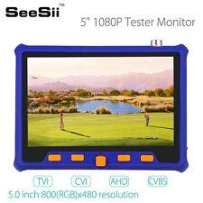 5 Inch CCTV Tester Monitor CVBS Camera PTZ Control 12V Output w / BNC Cable