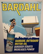 Original vintage Boat Oil Poster Bardahl Race  Advertisement Outboard