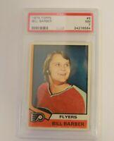 1974 Topps Hockey #8 Bill Barber Philadelphia Flyers HOF PSA 7