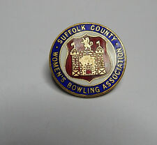 Suffolk County Womens bowling Association badge