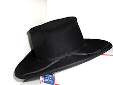 "BAILEY Black 100% Wool RANGER COWBOY HAT Western YOUTH/KIDS SIZE LG (21"")"