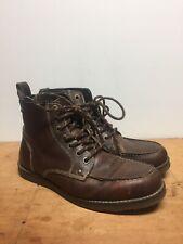 Mens 10 Crevo Buck Leather Moc Toe Boots