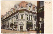 Providence RI The Largest Drug Store in America Hall & Lyon Co Ant Postcard 1907