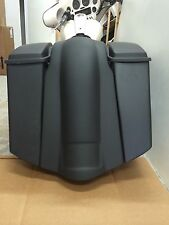 "Custom 6"" STRETCHED SADDLEBAGS & FENDER FOR HARLEY DAVIDSON TOURING NO CUTOUTS"
