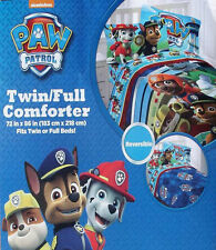 Nickelodeon Paw Patrol Gang Blue Twin Size Comforter Sheets 4Pc Bedding Set New