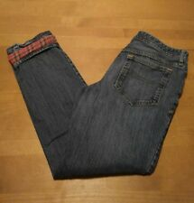 Eddie Bauer Womens Flannel Lined Jeans Size 6 Blue Denim Tapered Leg