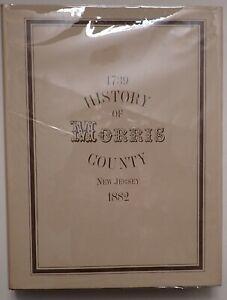 MORRIS COUNTY NEW JERSEY HISTORY 1882 GENEALOGY Reprint hardback DJ