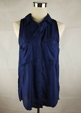 Life With Bird LWB Blue Sleeveless Shirt Blouse Top Women's Size 2 (USA Size 6)