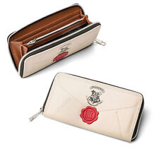 UK Harry Potter Letter Cream Coin & Zip Around Wallet Purse For Women Gift Top