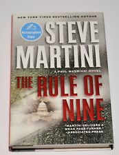STEVE MARTINI Signed THE RULE OF NINE Hardcover 1st/1st Book New York Times Best