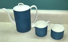 Vintage Mod. Wedgwood Coffee Pot w/ Cream & Sugar Set by Susie Cooper Design