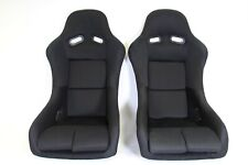 Pair 2 F1spec Type 5 Black Cloth Racing Bucket Seats Jdm