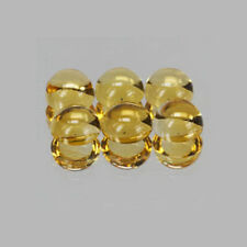 6mm 6pc Round CABOCHON Cut Natural Yellow Citrine