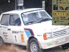 DECAL CALCA 1/43 TALBOT SAMBA A. ZANINI RALLY RACE 1984