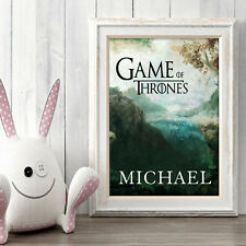 GAME OF THRONES Personalised Poster A5 Print Wall Art Any Name✔ Fast Delivery✔
