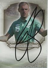 DARRON GIBSON MANCHESTER UTD EVERTON IRELAND TITANS 5/35 FUTERA 2014 AUTO CARD