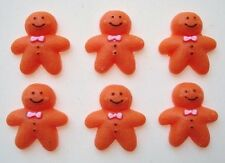 20 Gingerbread Man Resin Button/Christmas Holiday Flatback/Clay/Bead/Craft B91