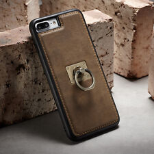New Luxury Shockproof Leather Case Cover With Ring Holder For iPhone 6 6s 7 Plus
