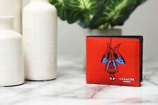 Coach 3 in 1 Marvel 1845 Spiderman Leather Billfold ID Holder Wallet