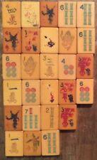 Mah Jong Tiles Vtg Mixed Lot 27