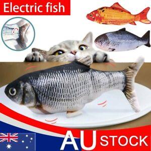 USB Electronic Wagging Moving Fish Cat Dog Toy Simulation Jumping Flippity Fish