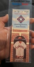 Vintage The Texas Rangers Opening Day Display/STAND With Ticket 1994