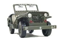 "Open Body 1945 Willys Overland Civilian Jeep CJ-2A Metal Model 11.5"" Desk Decor"