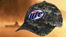 New Miller Beer Fish Camo Beer Adjustable Hat Cap