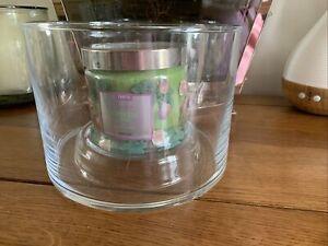 Partylite Blown Glass Jar Holder P92789 Brand New