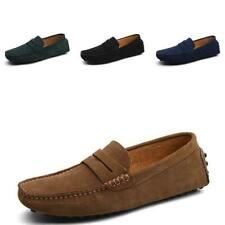 Mens Leisure Moccasin Pumps Flats Soft Slip on Suede Driving Vogue Loafers Shoes