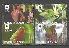 Cook Islands 2010 oiseaux WWF neuf ** 1er choix