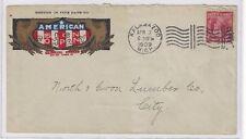 1909 Advertising, Kalamazoo MI, American Sign Company MULTICOLOR Lincoln #367
