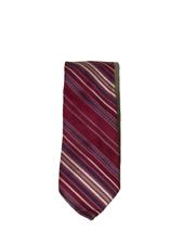 Vintage Maroon Brittania Stripe Striped Necktie Neck Tie 17433