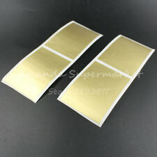 50pcs Scratch Off Sticker 50*70mm Gold Color Blank rectangle High Quality