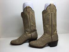 Womens Tepee Western Store Handmande Cowboy Ostrich Skin Greenish Boots Size 5 A