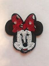 Sequin Minnie Mouse Iron on Applique Patch
