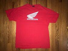 Vintage Honda Motorcycle T Shirt Red Mens Medium Preowned