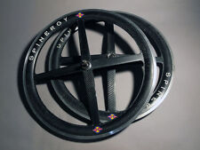 "Old School Vintage Spinergy Rev X Roks Carbon Fiber 26"" Wheel Set"