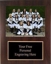 9x12 Personalized Softball Coach / Sponser Team Photo Plaque- Free Engraving