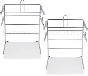 """New in box. Paid $40 T-Shirt Bag Rack Wall Mount 6/"""" Arms Chrome Pack of 2"""